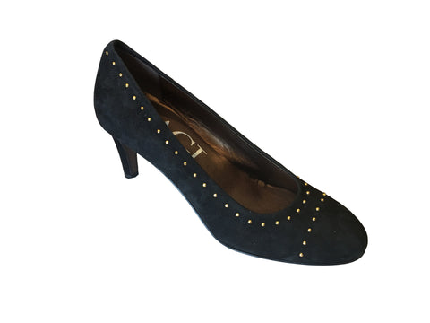 AGL - Velour Suede Studded Pump - Seaside Soles