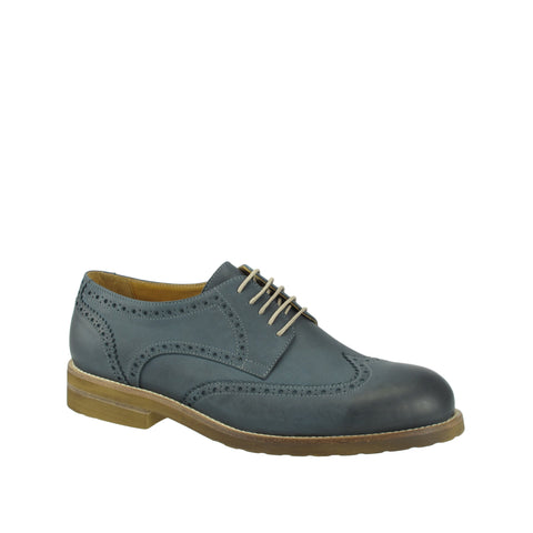 Ron White - Oscar Wingtip Blue Jeans Oxford - Seaside Soles