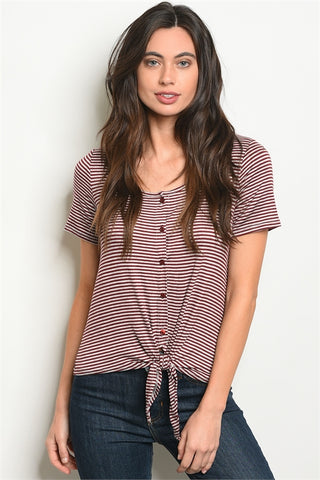 Button Me Knot Top