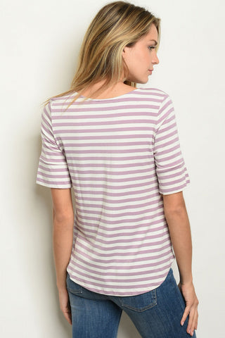 Lucky in Lavender Stripes Top