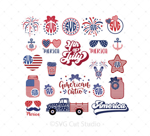 4th of July SVG Mini Bundle at SVG Cut Studio