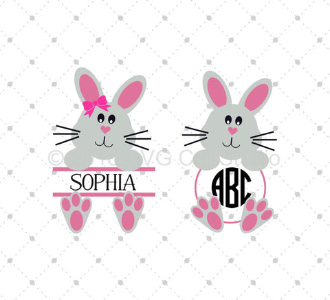 Easter Bunny SVG Cut Files D4 at SVG Cut Studio