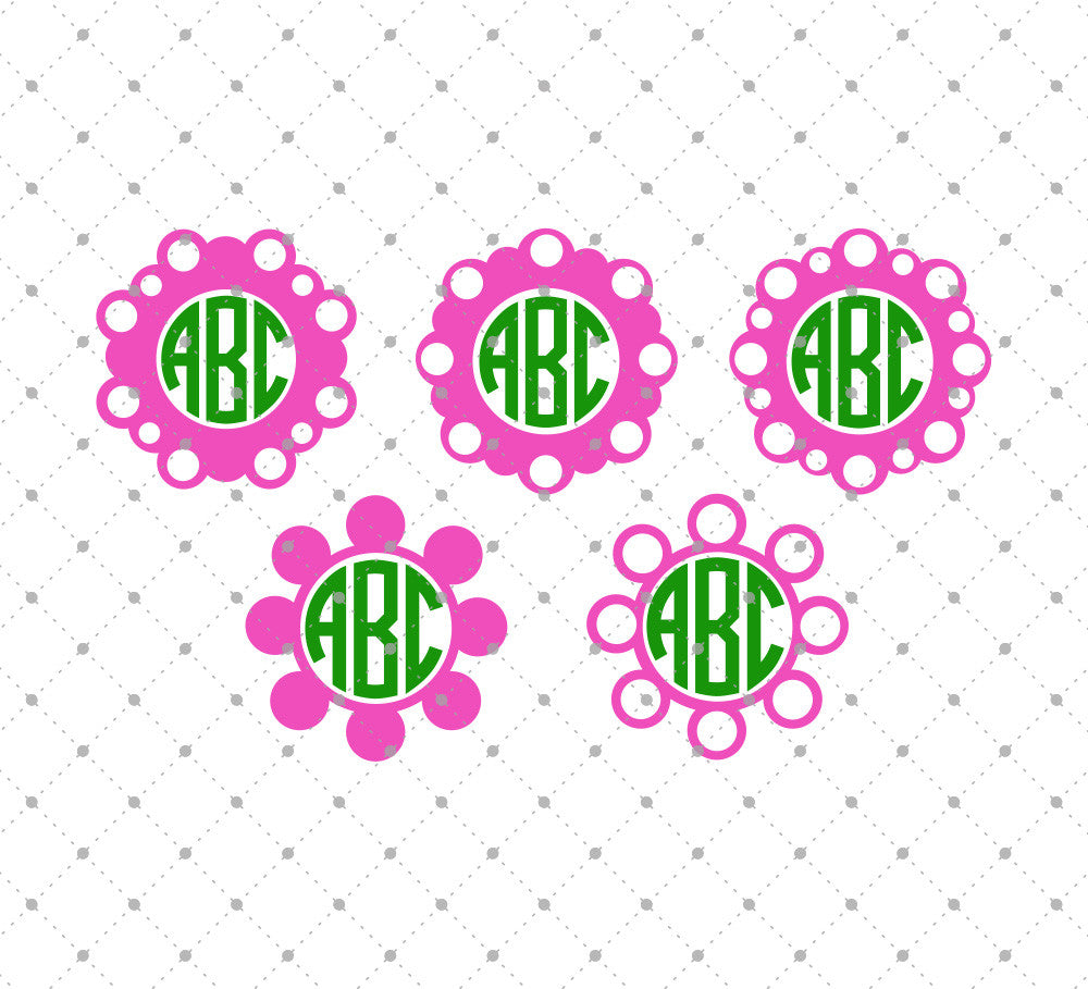 Circle Monogram SVG Cut Files D8