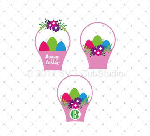 Easter Basket SVG Cut Files at SVG Cut Studio