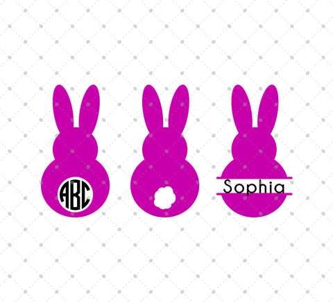 Easter Bunny SVG Cut Files D2 at SVG Cut Studio