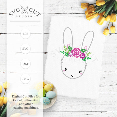 Easter Bunny SVG Cut Files D6