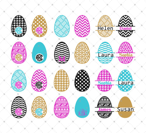 Easter Eggs SVG Cut Files #3 at SVG Cut Studio