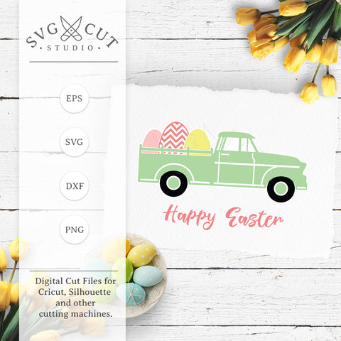 Easter Truck SVG Cut Files
