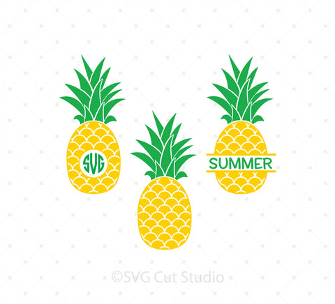 Pineapple Monogram Frames SVG Cut Files at SVG Cut Studio