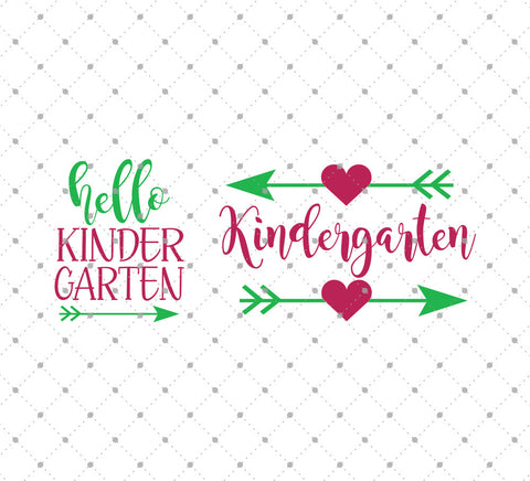 Hello Kindergarten SVG Cut Files at SVG Cut Studio