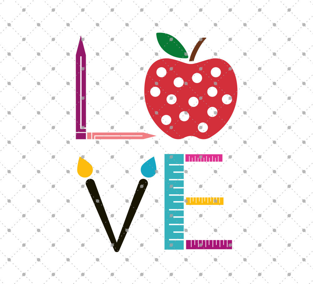 Love School SVG Cut Files D2