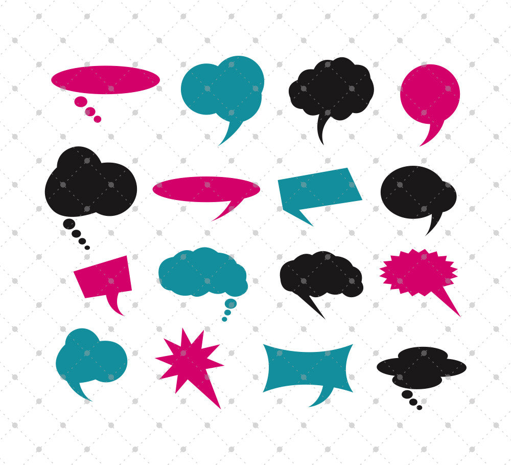Speech Bubbles SVG Cut Files
