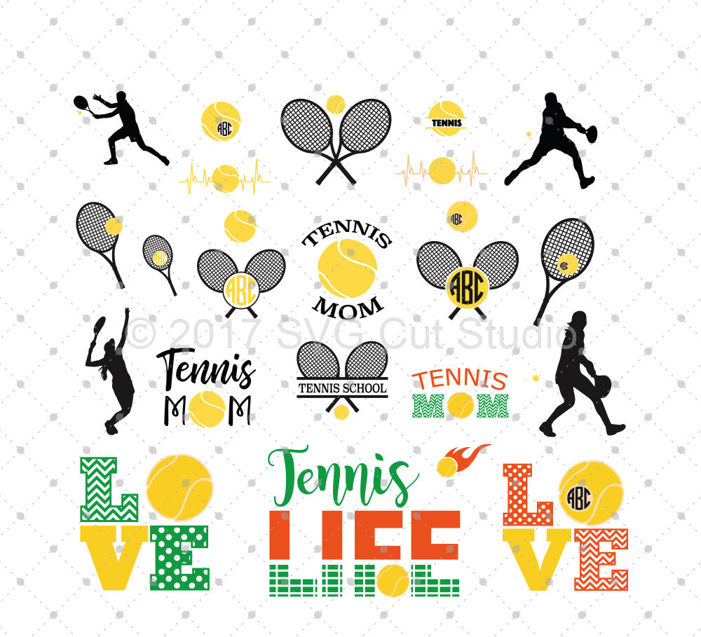 Tennis SVG Cut Files