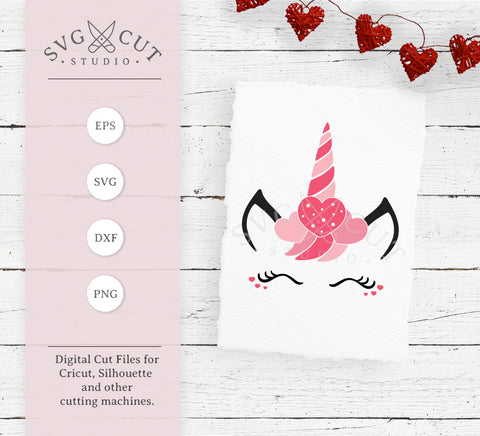 Valentines Day Unicorn SVG Files