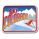2 x Ski Colorado Retro Skiier Vinyl Sticker #4016