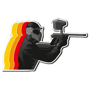 2 x Paintball Paint Ball Gun Car Vinyl Sticker #4034