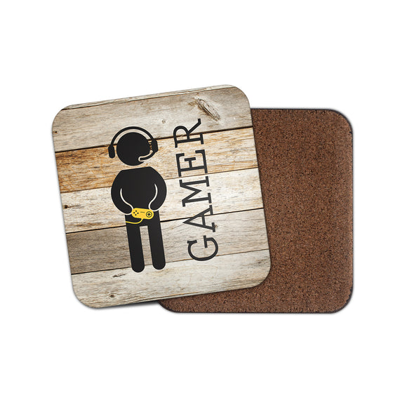Gamer Cork Backed Drinks Coaster for Tea & Coffee #4131