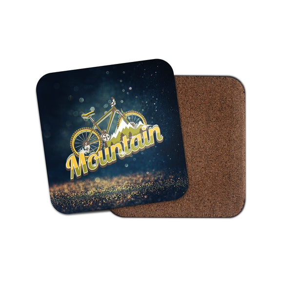 Mountain Bike Cork Backed Drinks Coaster for Tea & Coffee #4135