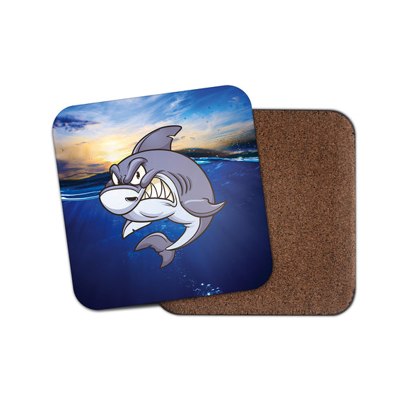 Shark Cork Backed Drinks Coaster for Tea & Coffee #4151