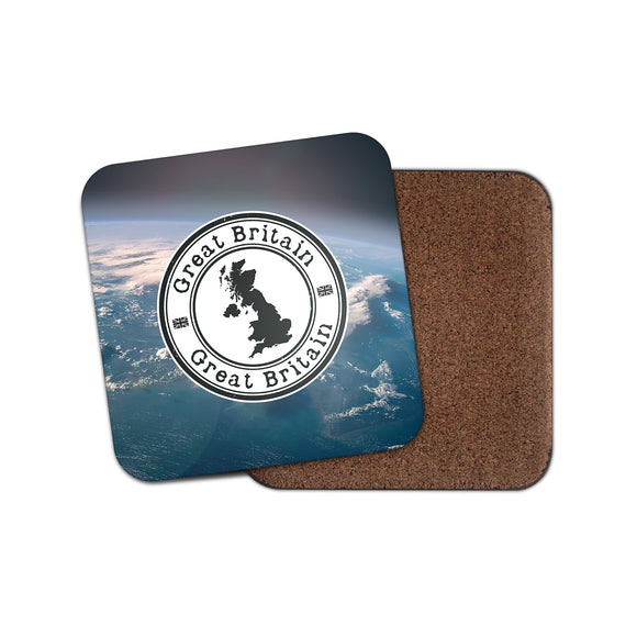 GB Great Britain UK Cork Backed Drinks Coaster for Tea & Coffee #4153