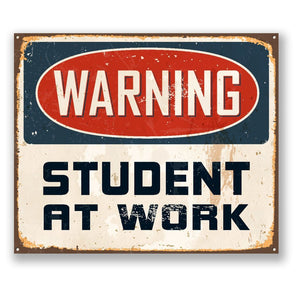 2 x Warning Student at Work Vinyl Sticker #4185