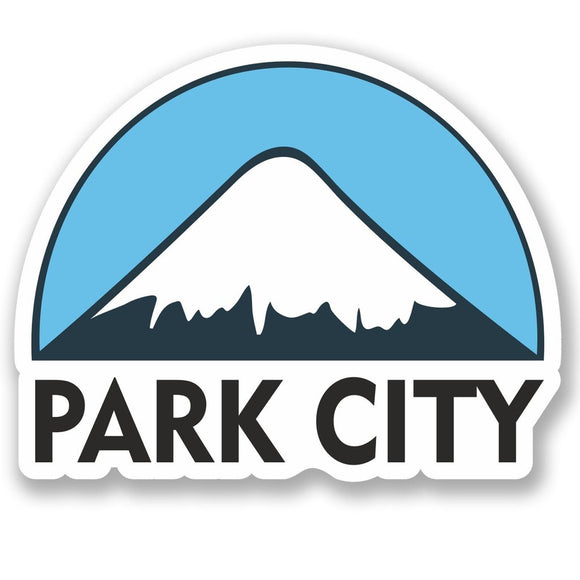 2 x Park City USA Ski Snowboard Vinyl Sticker #5159