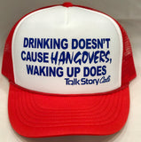 Drinking doesn't cause hangovers waking up does