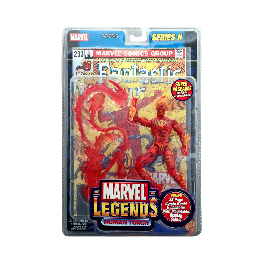 Marvel Legends Series II Human Torch (variant with 4 emblem)
