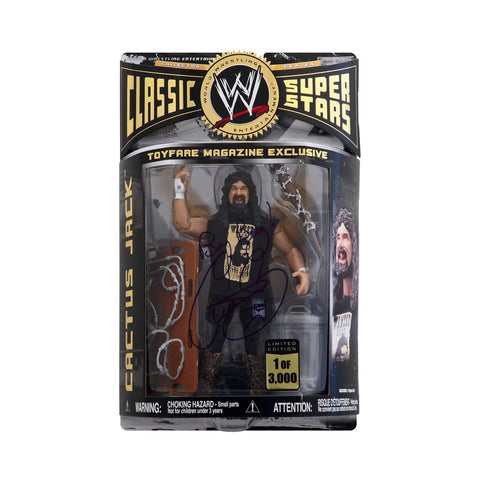 Autographed ToyFare Exclusive Classic WWE Superstars Cactus Jack (1 of 3000)