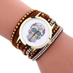 Showy Skull Bracelet Watch