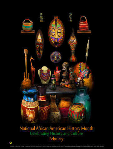 "Item# BHC  Size 24"" x 36""African American History Month Celebrating History and Culture   (GSA)"