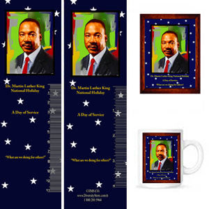 MLK15 Bookmarks, Buttons and Magnets