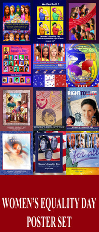 Item# WEDPS Women's Equality Day Poster Poster Set.. GSA