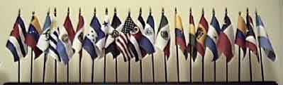 Latin American Flag Set - 27- 4x6 in flags Item LAS27(not the image on display)