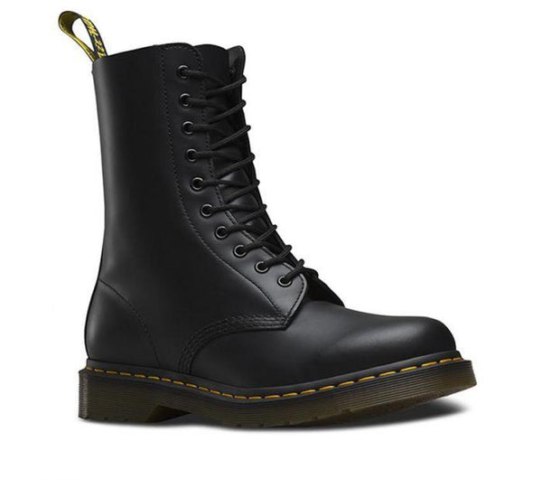 Dr Martens 11857001 1490 Black Smooth 10 EYE Unisex Boot