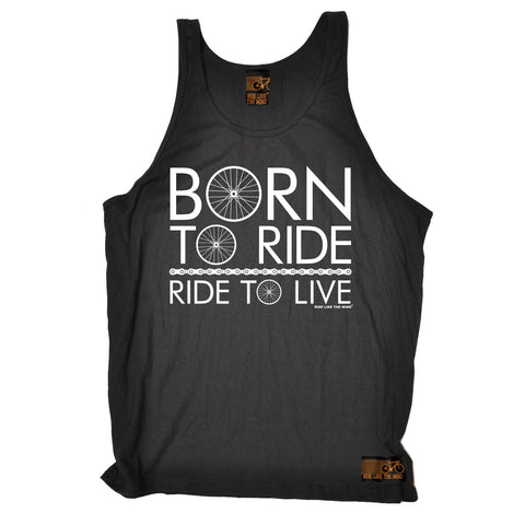 Ride Like The Wind Born To Ride Ride To Live Cycling Vest Top