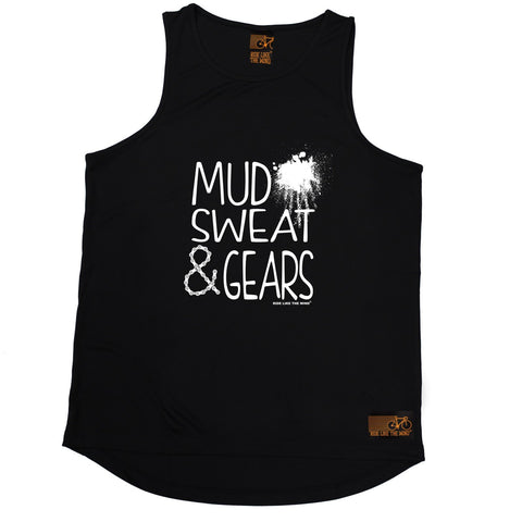 Ride Like The Wind Mud Sweat & Gears Cycling Men's Training Vest