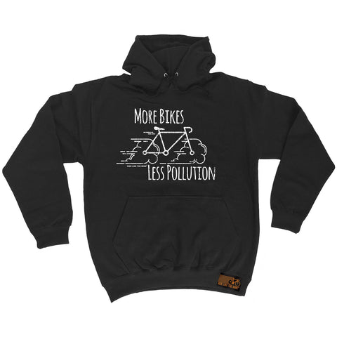 Ride Like The Wind More Bikes Less Pollution Cycling Hoodie