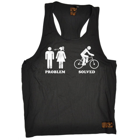 Ride Like The Wind Problem Solved Cycling Men's Tank Top