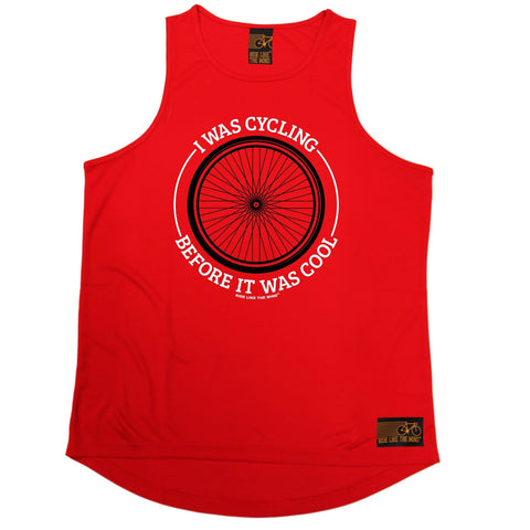 Ride Like The Wind Wheel I Was Cycling Before It Was Cool Men's Training Vest