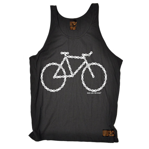 Ride Like The Wind Bike Made Of Chains Cycling Vest Top