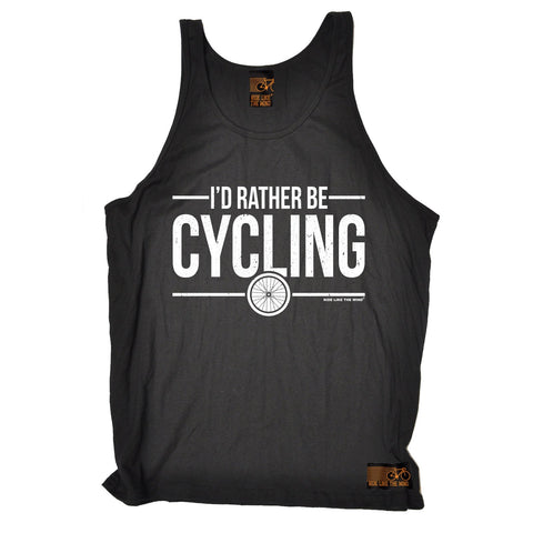 Ride Like The Wind I'd Rather Be Cycling Vest Top