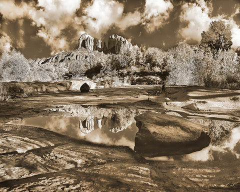 Cathedral Rock Sepia