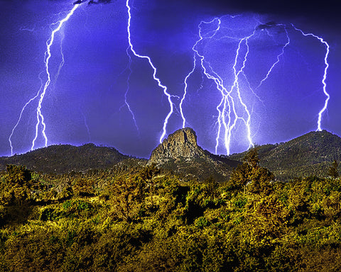 Thumb Butte Lightning