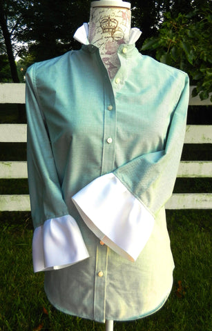 Oxford Green Shirt with White Ribbon (ORG)