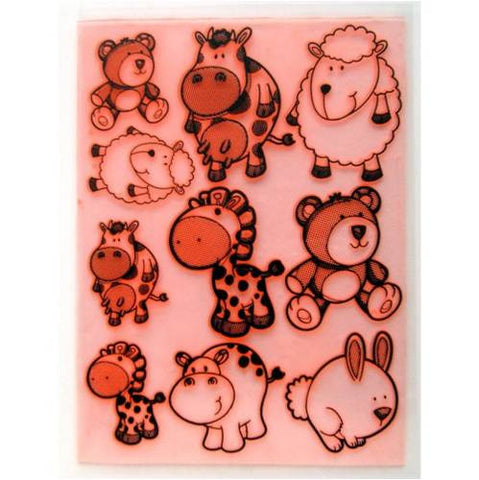 Animal Toys Stamps / Sellos de Polímero Animales - Hobbees