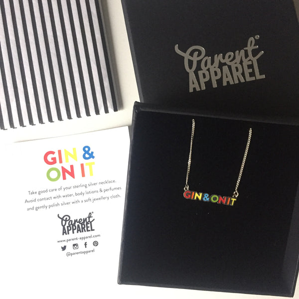 GIN & ON IT sterling silver necklace - Parent Apparel Ltd