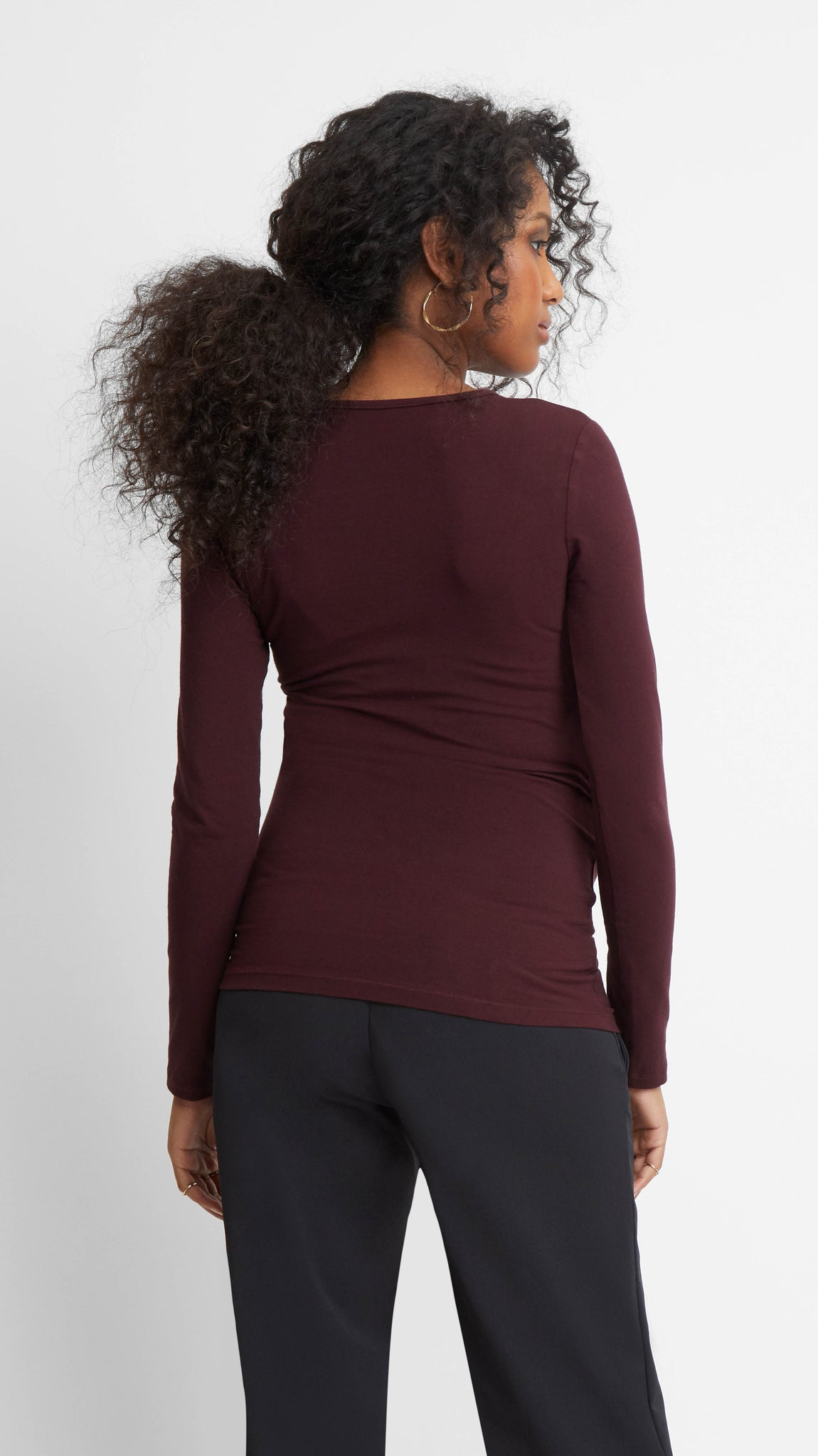 Ruched Side Seam Maternity Top