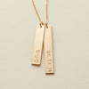 Vertical Bar Necklace - Double