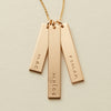Vertical Bar Necklace - Triple